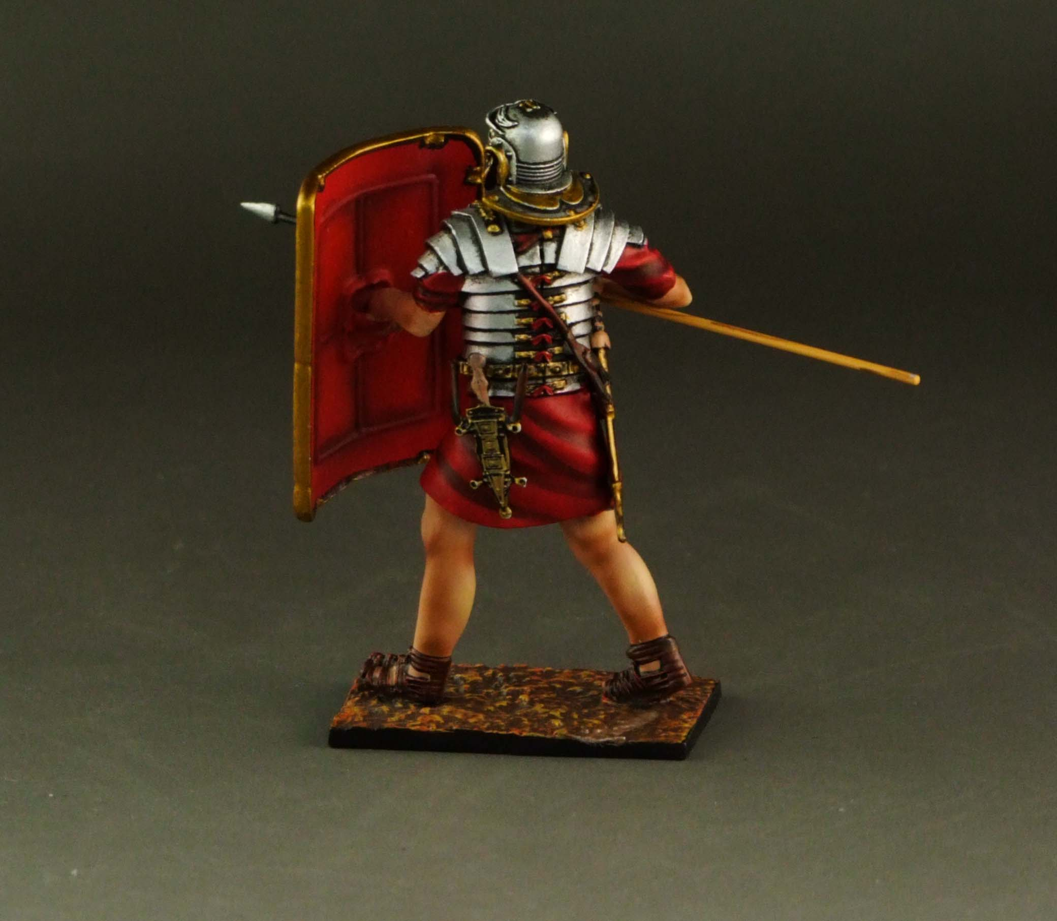 Roman soldier fighting with spear
